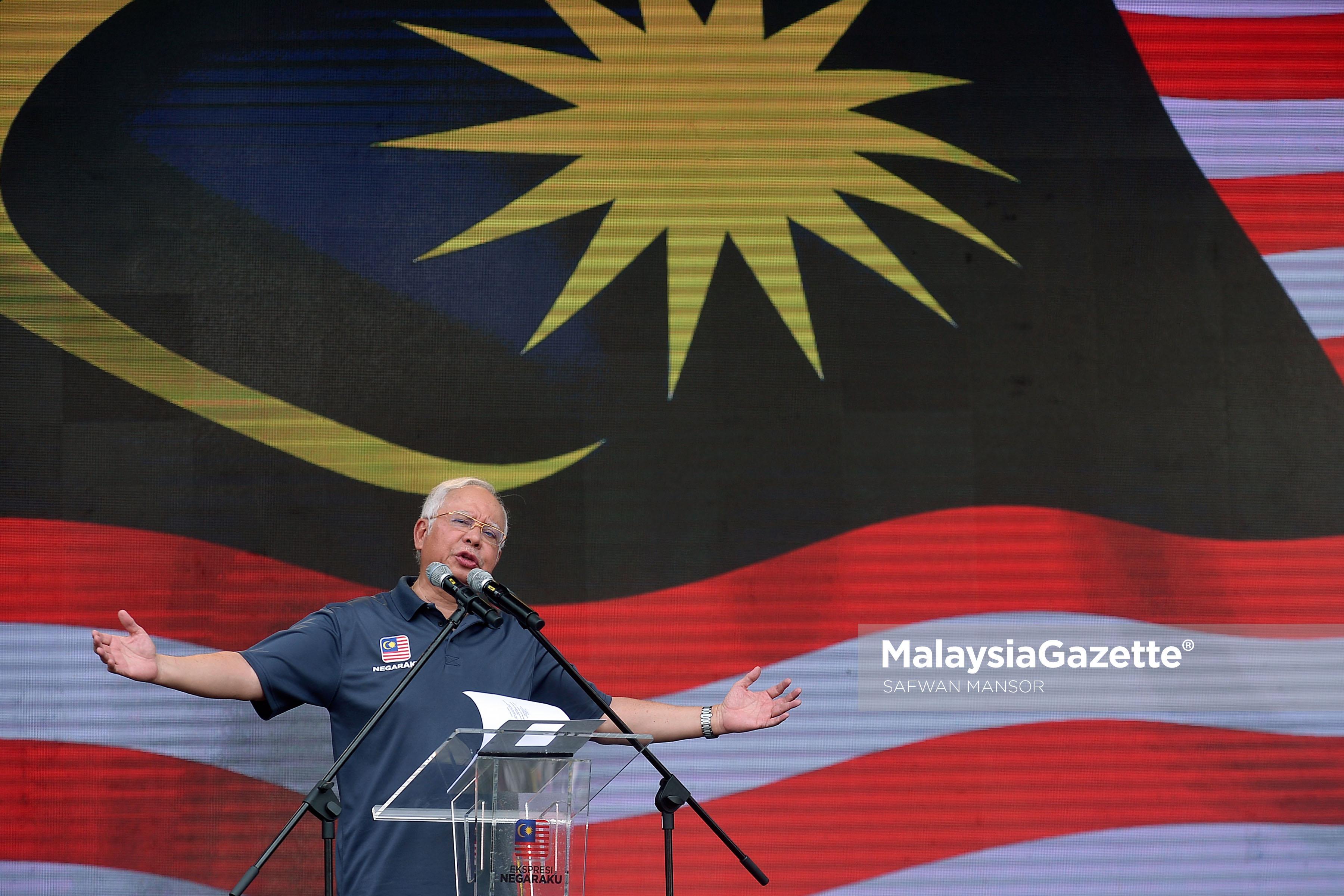 Perdana Menteri, Datuk Seri Najib Tun Razak berucap pada Majlis Pelancaran Kempen Ekspresi Negaraku di Putrajaya. foto SAFWAN MANSOR, 18 MAC 2017