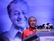 Perdana Menteri, Tun Dr Mahathir Mohamad berucap pada Majlis Malam Kempen Derma Tabung Harapan Persatuan Cina Klang di Pusat Konvensyen Ideal Shah Alam (ODCC), Seksyen 15, Shah Alam. Foto Affan Fauzi, 22 Julai 2018