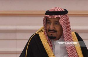 Raja Arab Saudi, Raja Salman Abdulaziz Al Saud hadir pada perbincangan berkaitan hubungan diplomatik dan ekonomi dan Majlis Menandatangani Memorandum Kerjasama Antara Malaysia dan Arab Saudi di Seri Perdana, Putrajaya. foto NOOR ASREKUZAIREY SALIM, 27 FEBRUARI 2017