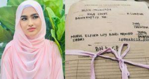 Gambar pada satu fail tertera nama sebenarnya Nurul Elfira Loy Ahmad Sabri kini tersebar di laman sosial berkaitan notis bankrap.