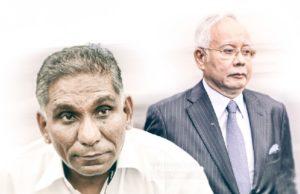 Datuk Seri Najib Tun Razak dan Tan Sri Irwan Serigar Abdullah berhadapan enam pertuduhan pecah amanah membabitkan wang kerajaan lebih RM6.6 bilion. Kedua-dua nya mengaku tidak bersalah dan mohon dibicarakan.
