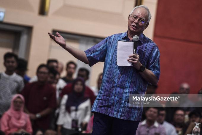 Bekas Perdana Menteri, Datuk Seri Najib Razak pada Majlis Santai Bersama Najib Razak di Dewan Tun Hussein Onn, Pusat Dagangan Dunia Putra (PWTC), Kuala Lumpur. foto AFFAN FAUZI, 03 NOVEMBER 2018.