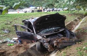 Seorang anggota tentera maut manakala abangnya cedera selepas kereta yang dinaiki mereka terbabas sebelum terjatuh ke dalam longkang di KM 319.6 Lebuh Raya Utara Selatan arah selatan dekat Tapah di sini hari ini.